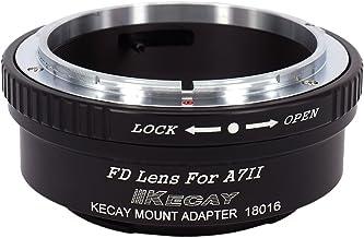 KECAY Anillo Adaptador para Adaptar Lentes de Canon FD FL Mount a Cámaras Sony A7II A7S A7RII Mount Full Frame cámara - Adaptador Lentes Canon FD para Sony A7II