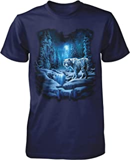 Hoodteez Snow Tiger, White Tiger Men`s T-Shirt