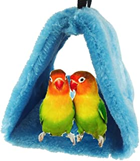 Jtshy Bird Nest House Hut Hammock, Cage Toy for Parrot Budgies Parakeet Cockatiels Cockatoo Conure Lovebird Finch Diamond doves (Real Color) (Basic)