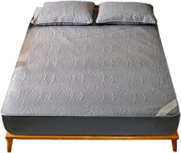 Non Slip Mattress Cover 100% Waterproof Terry Cotton Dust Proof Breathable Ultrasoft Noiseless Pad Fitted Bed with Elastic...