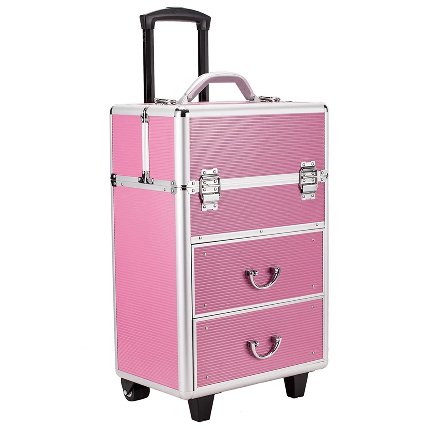 4 Tier Lockable gift Max 56% OFF Cosmetic Makeup Case Train Trays Extendable with