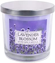 """Home Traditions 3-Wick Evenly Burning Highly Scented 4x4"""" Large Jar Candle with 45+ Hour Burn Time (14.5 Oz) - Lavender Bl..."""