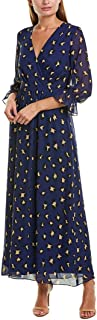Tahari by ASL Women's 3/4 Sleeve Animal Print Maxi Dress