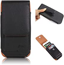 "Esing 6.3"" Universal Holster Pouch Card Slot Rotation Belt Clip Case for Galaxy S8 S9 S10+ Note 8 9 10+ 5G &iPhone XR Xs Max 11 Pro Max(Black)"