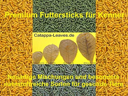 catappa-leaves Premium Futtersticks Seemandelbaumblätter-Brennnessel (50 Gramm) Futterpellets Garnelenfutter Fischfutter