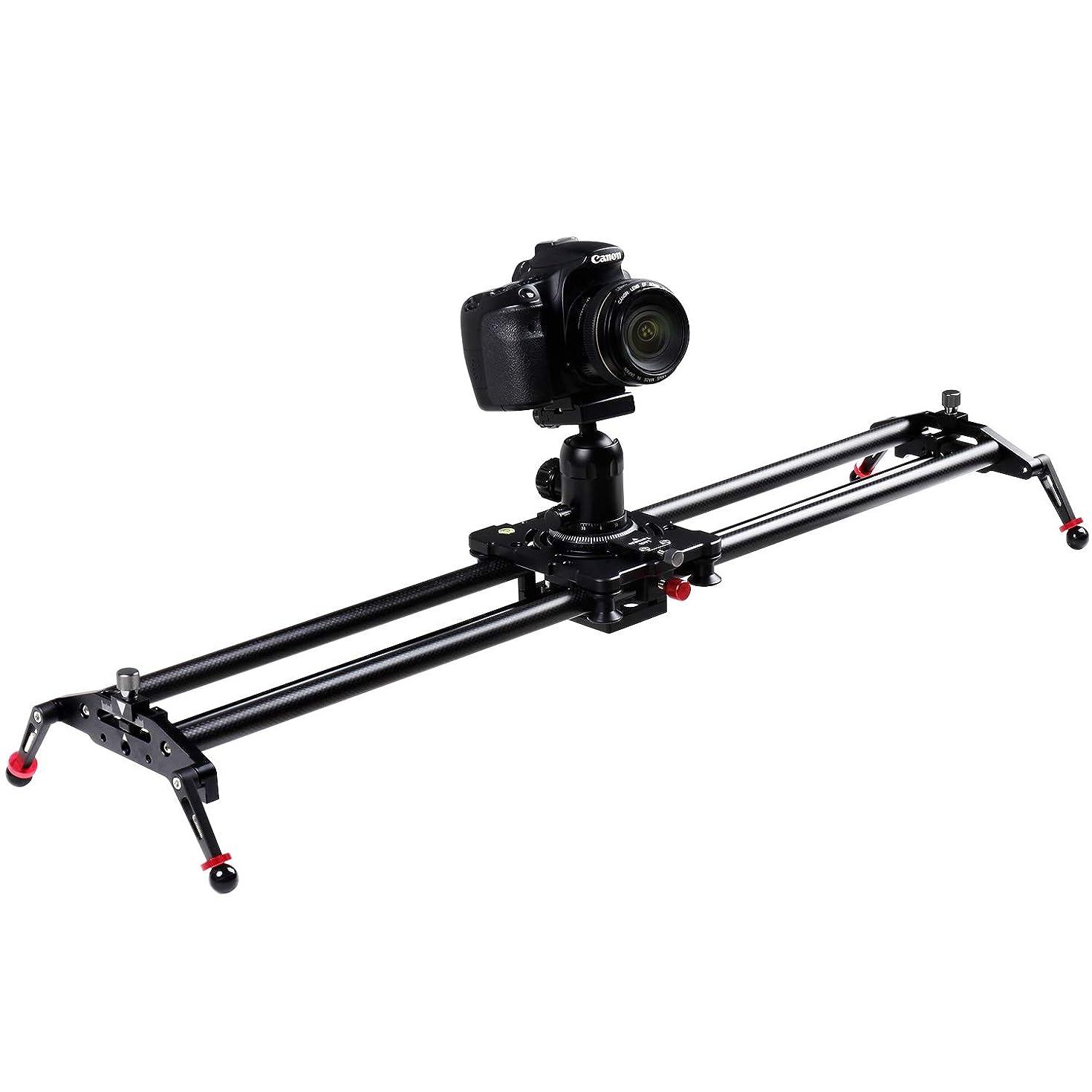 ASHANKS S2 0.8m/2.6ft Track Camera Slider Carbon Fiber Adjustable Angle Tube Follow Focus Pan for Stabilizer DV DSLR Camera YouTube Video Shooting