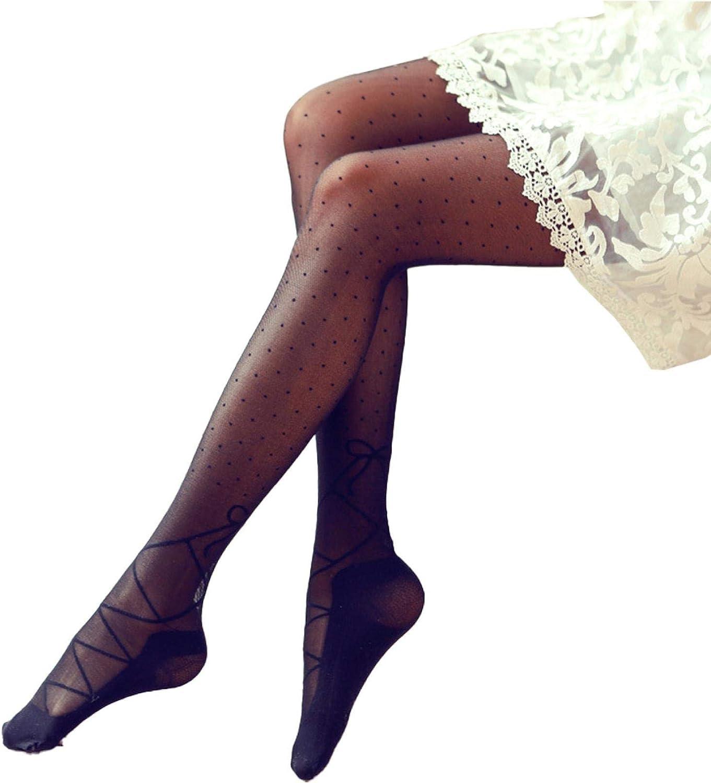ANNIEE Women's Tights Polka Dot Pattern Lolita Tight Socks