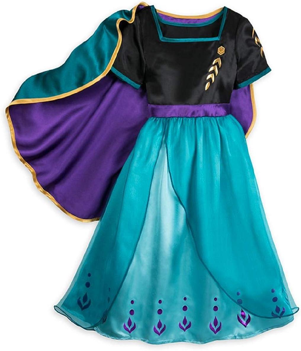 Anna Sleep Gown for Girls – Frozen 2 - Size 7/8 Black