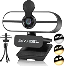 New Upgraded 2k Ultra HD Webcam with Microphone,BAVEEL Auto Fixed-Focus 360°Rotating Streaming Camera with Adjustable Ring...