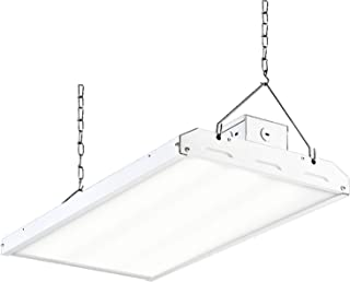 Hykolity 2FT LED High Bay Shop Light, 400W Equivalent 22275lm 135LM/W 5000K High Output Linear Hanging Light for Warehouse, 4 Lamp Fluorescent Fixture Replacement, 1-10V Dim, UL, DLC Premium Complied