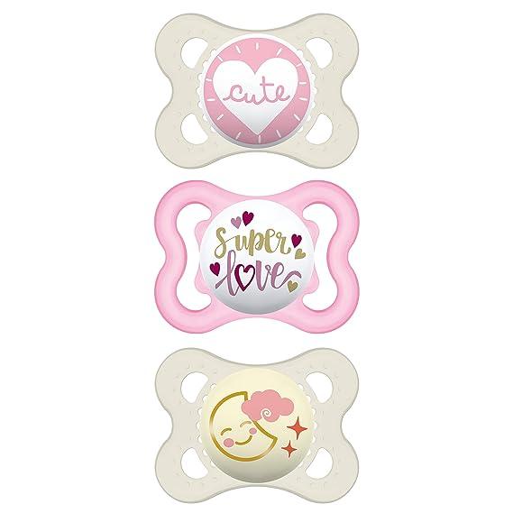 MAM Pacifier Variety Pack (1 Original, 1 Air + 1 Night Pacifier), MAM Pacifiers 0-6 Months, Best Pacifier for Breastfed Babies, Glow in The Dark Pacifier