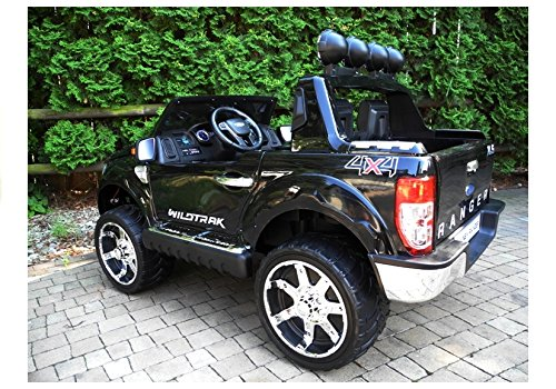 RC Auto kaufen Kinderauto Bild 3: Elektro Kinderauto Elektrisch Ride On Kinderfahrzeug Elektroauto Fernbedienung - Ford Ranger 2-Sitzer - Schwarz*