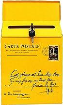 Vintage Retro Wall Mount Mailbox Mail Postbrief Krantendoos Waterdicht (Kleur: Geel)