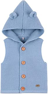 Weixinbuy Kids Baby Boy's Girl's Hooded Coat Button-up Sweater Vest Winter Warm Outerwear Clothes