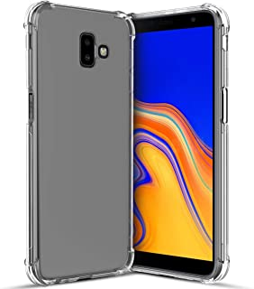 Samsung Galaxy J6 Plus Case,Galaxy J6+ Case with Screen Protector,[Ultra-Thin Slim][Reinforced Corner][Scratch Resistant] Soft TPU Skin Silicone Premium Bumper Protective Clear Case Cover