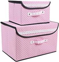 2PCS Unique Storage Laundry Basket Bags Clothes Hamper Storage Foldable Toy Covered Organizer-A09