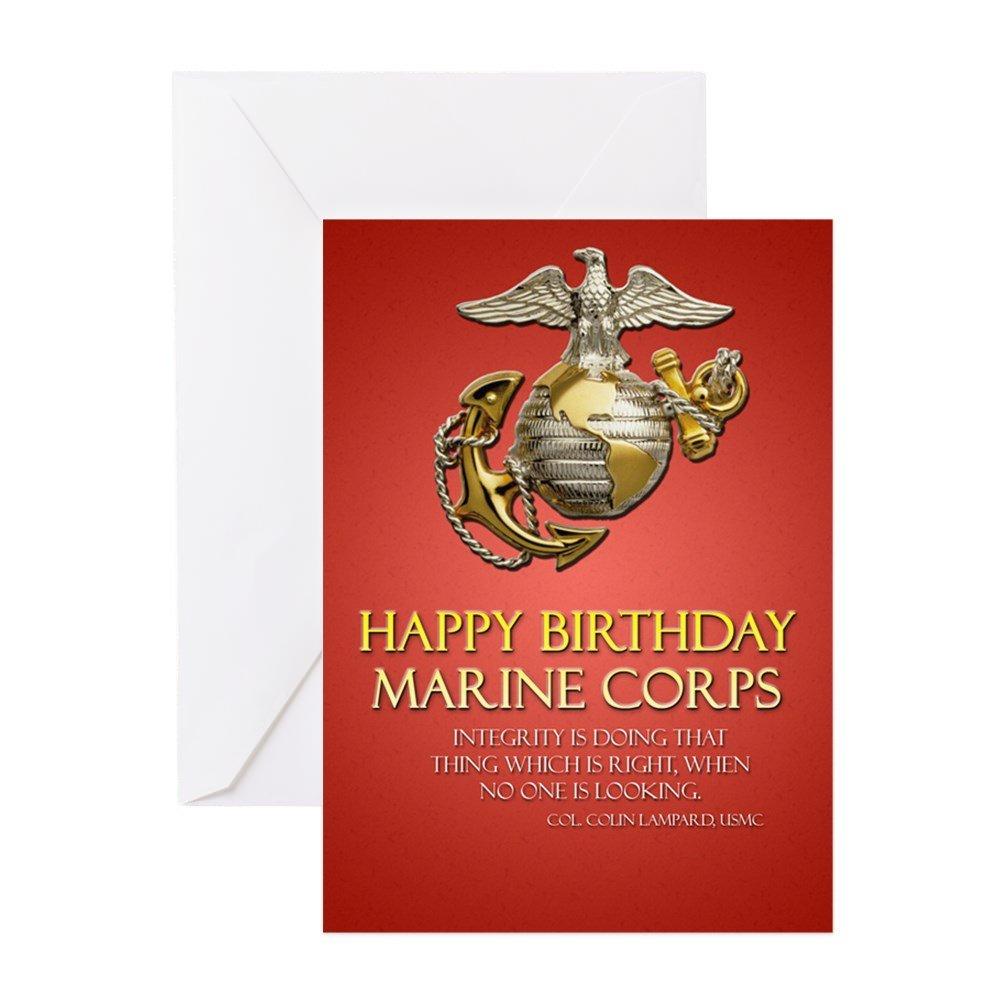 CafePress – (PK 20) infantería de marina de cumpleaños tarjetas de felicitación – Tarjeta de felicitación (20-Pack), tarjeta de nota con interior en blanco, tarjeta de felicitación de cumpleaños brillante: Amazon.es: Oficina