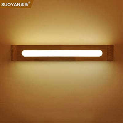 Industrial Vintage Wall Sconces Led Solid Wood Wall lamp Bedroom Bedside lamp Mirror Front lamp Glass