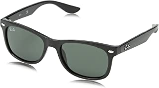 Ray-Ban Kids' New Wayfarer Junior Sunglass Square, BLACK...