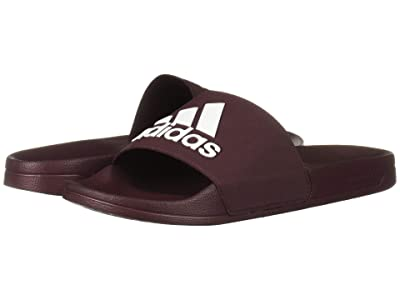 adidas Adilette Shower (Maroon/Footwear White/Maroon) Men