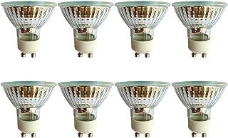 Lot de 8 ampoules halogènes GU10 50W à intensité variable, blanc chaud 2800K, 550lm, angle de faisceau 36°, pour salle...