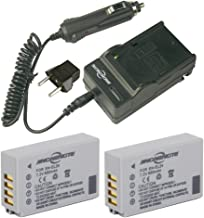 JINGNENGTE 2-Pack of EN-EL24 Batteries and Battery Charger for Nikon 1 J5, DL18-50, DL24-85 Digital Camera