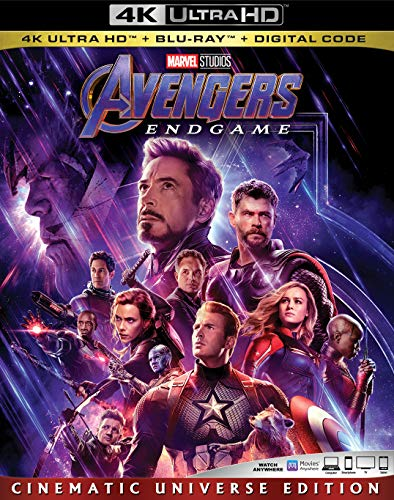 Avengers: Endgame NEW 4K UHD + BLU-RAY + DIGITA Pre-order August Chris Hemsworth +Contact…