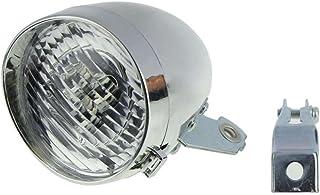 vovotrade retro Accesorio de la luz delantera de bicicleta soporte Vintage 3LED linterna