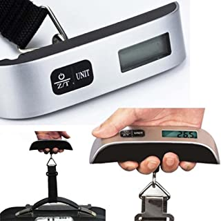 changchunST 吊りはかり 旅行はかり スーツケース 携帯式 デジタルスケール はかり 重量計 荷物スケール UNITボタンで単位切換 LCD液晶ディスプレイ 小型 軽量 最大50kgまで量れる