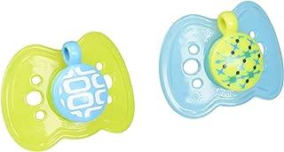 The First Years 2 Piece Gumdrop Newborn Ortho Assorted Pacifier, 1 Boy 1 Girl 2 Neutral