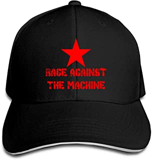 Rage Against The Machine Unisex Baseball Cap Adjustable Magic Buckle Sandwich Hats Sports Outdoors Black