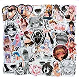 Anime Stickers (100pcs), Sexy Girl Waifu Stickers for Adult Waterproof Vinyl Ahego Stickers for Water Bottle, Laptop, Bicycle, Computer, Motorcycle, Travel Case, Car Decal