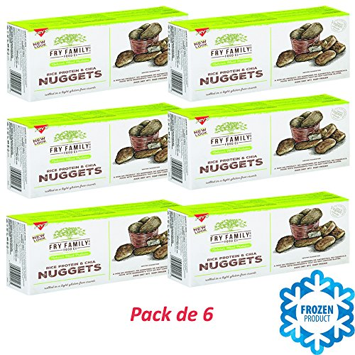 Pack de 6 Nuggets De Chia 240g   Fry's Family Foods   Proteína de Arroz   Sin Carne   Vegana   Pepitas de Semillas de Chía   Congelado