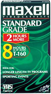 Maxell Standard-Quality Vhs Video Tapes (8 Hours; Single) Product Category: Video Tape & Accessories/Vhs Video Tape