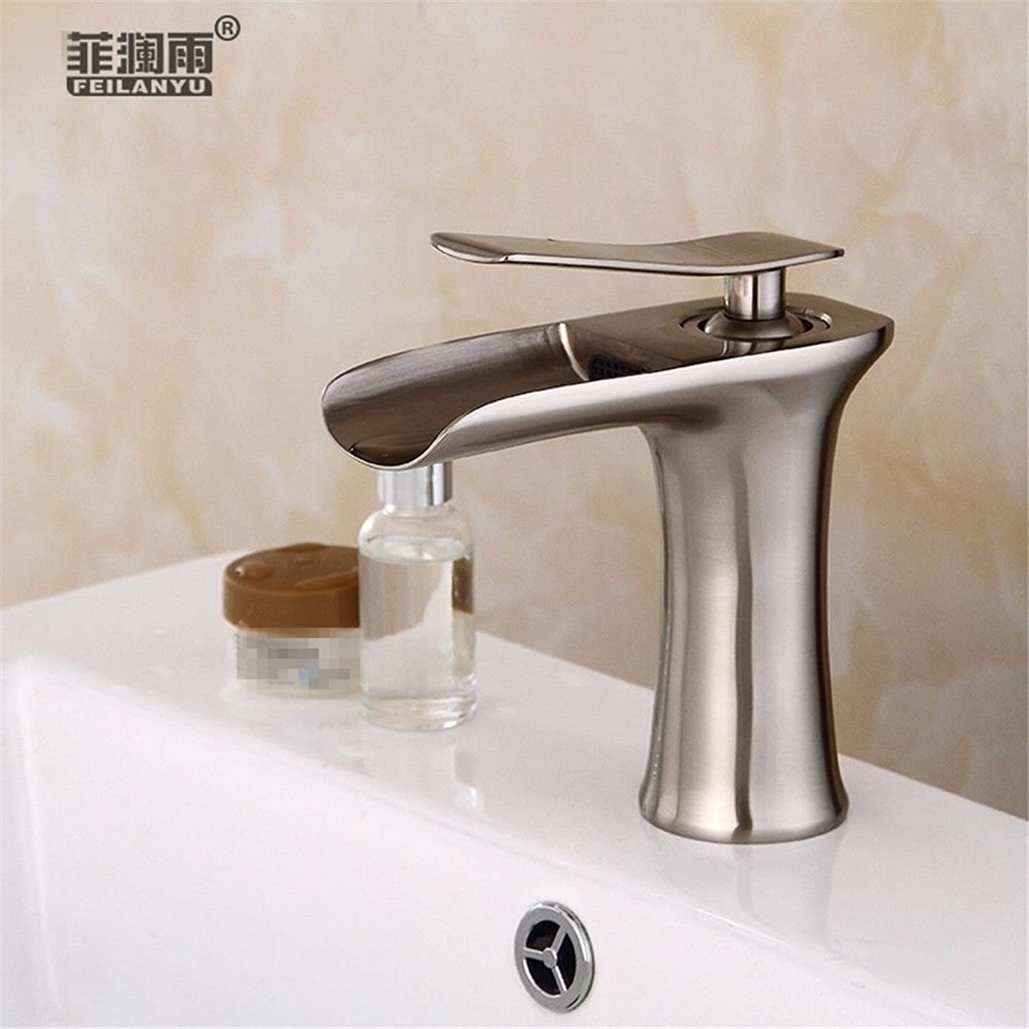 Bathroom Sink Faucets Bathroom Fixtures Hlluya Professional Sink Mixer Tap Kitchen Faucet Hot and Cold Single Hole Basin Mixer Basin Mixer Third Gear Out of The Water-Cooled Heat Sink Basin Mixer