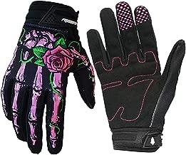 RIGWARL Cycling Gloves Full-Finger Motocross Gloves Skeleton Bones Motorcycle Gloves for Men Women Non-Slip and Resistance to Abrasion for Biking Climbing Hiking