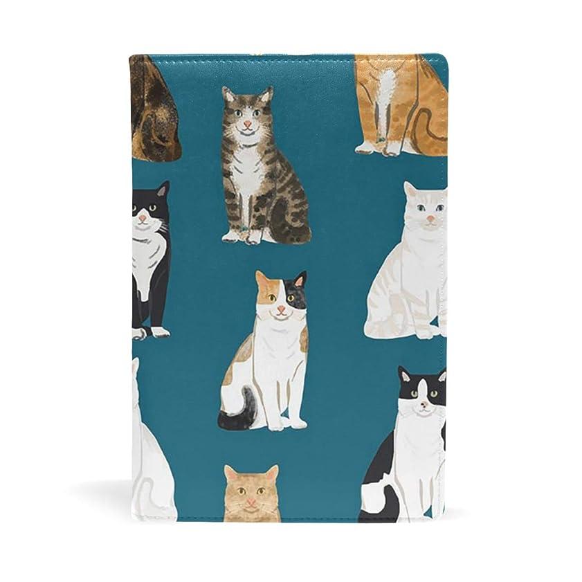 もう一度パールうなり声猫 柄 ブックカバー 文庫 a5 皮革 おしゃれ 文庫本カバー 資料 収納入れ オフィス用品 読書 雑貨 プレゼント耐久性に優れ