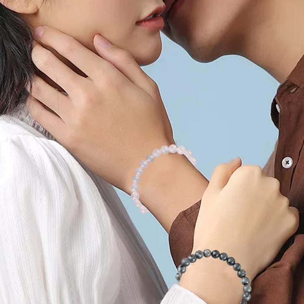 Bracelet magn/étique Distance Correspondant Bracelet dattraction de Relation mutuelle AILOS Bracelets magn/étiques de Couples Bracelet damiti/é de Bracelets de Couples 2 pi/èces