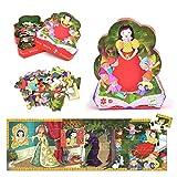 Djeco DJ07259 - Snow white - puzzle en forma para niños 24 piezas
