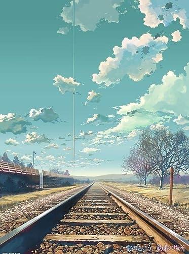 Puzzle House- Makoto Shinkai-Comic, Holzpuzzle, japanische Cartoon-Fantasie-Illustration, Basswood Perfect Cut & Fit, 300 500 1000 1500 Stück Boxed Fotografie Spielzeug Spiel Kunst Malerei für Erwachs