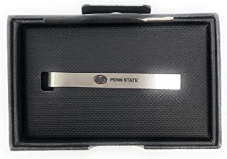 Laser Engraved Gifts Penn State University Tie Clip Silver Tie Bar Gift Set