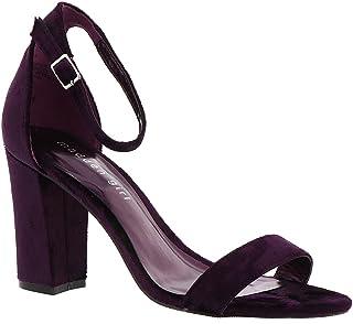 498ed7ac4 Amazon.com  Purple - Heeled Sandals   Sandals  Clothing