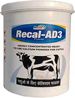 REFIT ANIMAL CARE Calcium Powder for Cattle, Cow, Goat, Sheep and Livestock Animals (Recal-AD3 1 Kg.)