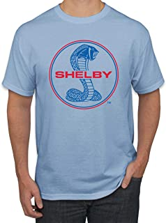 Shelby Cobra USA Logo Emblem Powered by Ford Motors | Mens Cars and Trucks Graphic T-Shirt