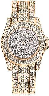 Fashion Clearance! Noopvan Crystal Watches Women Quartz Wristwatch Clock Ladies Dress Gift Watches (Rose Gold)