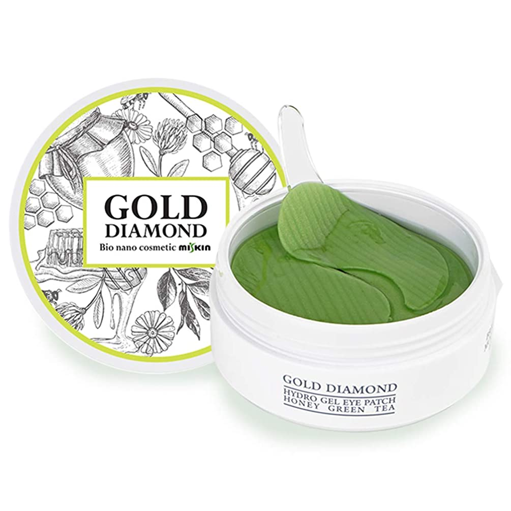 貝殻出身地手綱ゴールドダイアモンド アイパッチ ハイドロゲル ハニーグリーンティー (60枚) / Gold Diamond Eye Patch Hydro Gel Honey Green Tea (60pcs) [並行輸入品]