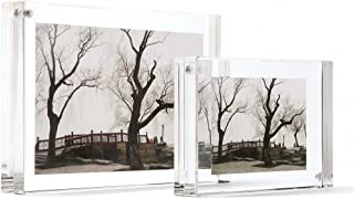 Canetti Original Magnet Frame 4x6 Double Sided Magnetic Picture Frame, Floating Photo Frame, Acrylic Frame Two Panels