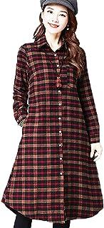 【kosotto】ゆったり シルエット の 長袖 ロング シャツ ワンピース チュニック レイヤード レディース 大きい サイズ