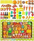 ISO TRADE Küchenspielzeug- 90-Teile Plastik Essen Obst Gemüse Rollenspiele Küche Kinder 8234