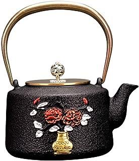 Japanese Tetsubin Tea Kettle Cast Iron Teapot Crafts 1.3L with Handle #1